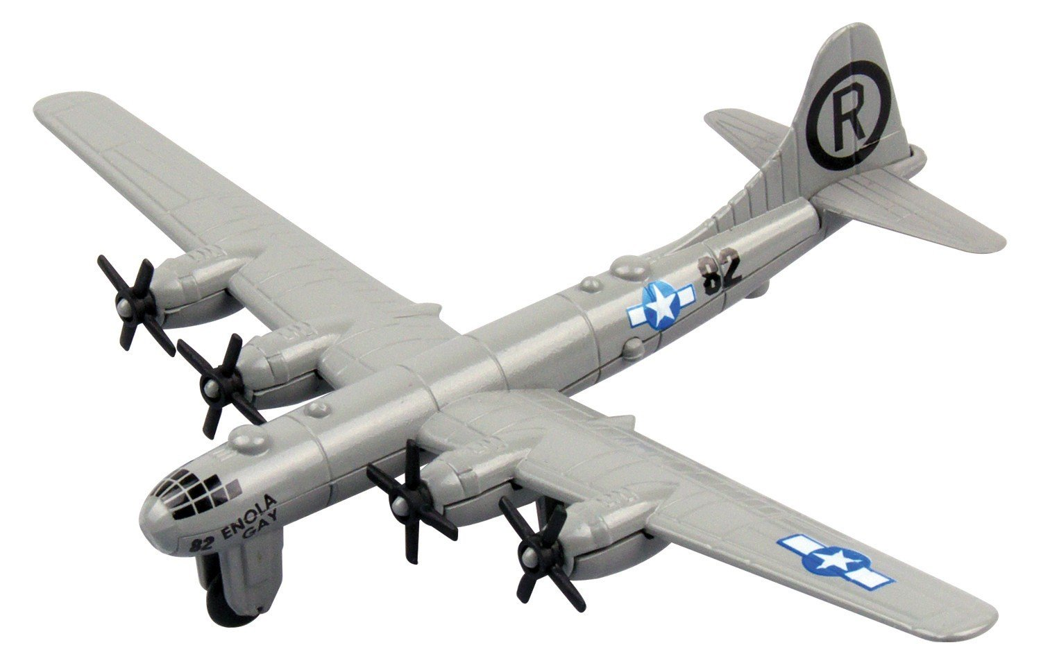 Richmond Toys 1:100 Motormax Sky Wings Boeing B-29 Superfortress Die-Cast Plane with Authentic Details