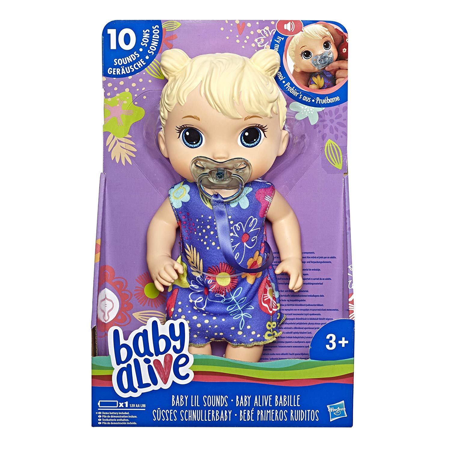 Baby Alive Baby Lil Sounds Interactive Baby Doll Set