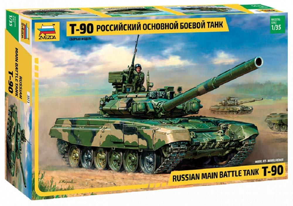 Zvezda 500783573–1:35Model Russian Battle Tank T-90
