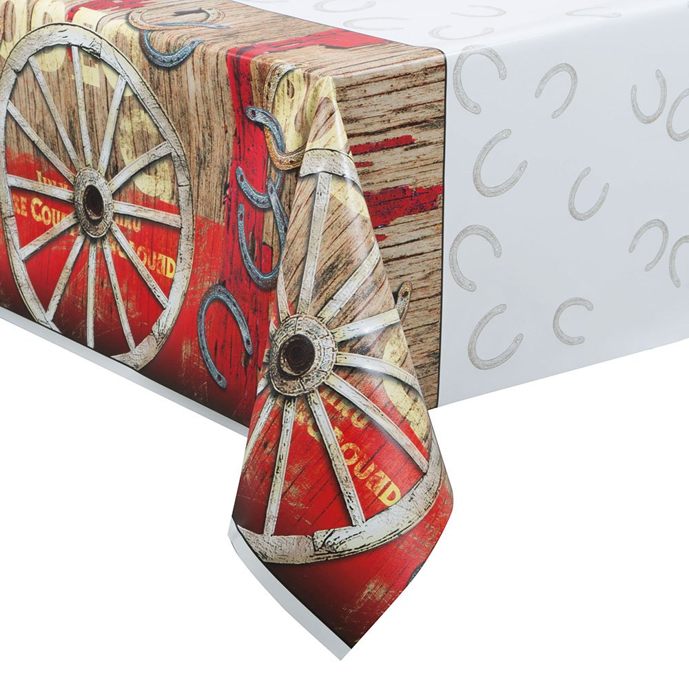 Unique Party 49623 – Rodeo Western Plastic Tablecloth, 7ft x 4.5ft