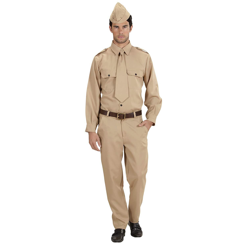 WW2 Soldier Costume Medium for Military Army War Fancy Dress