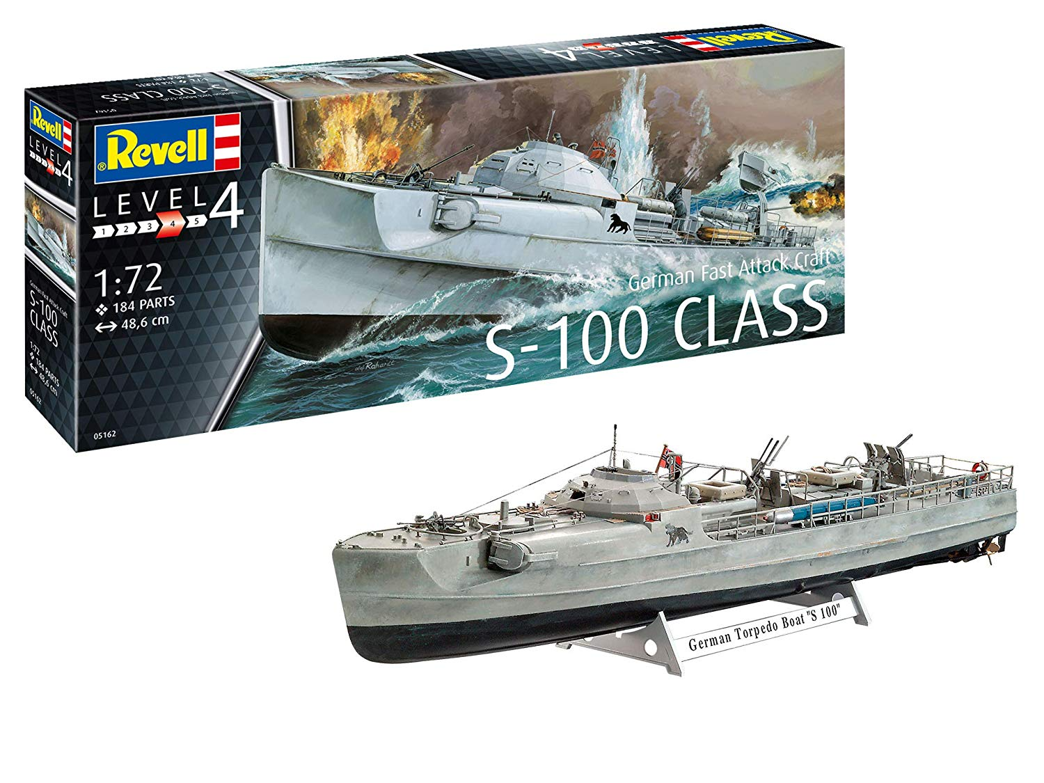Revell GmbH Revell 05162 5162 1:72 German Fast Attack Craft S-100 Plastic Model Kit Multicolour, 1/72