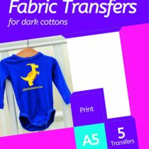 Avery HTT02 Printable Fabric Transfers for Dark Cottons, 1 transfer Per A5 Sheet