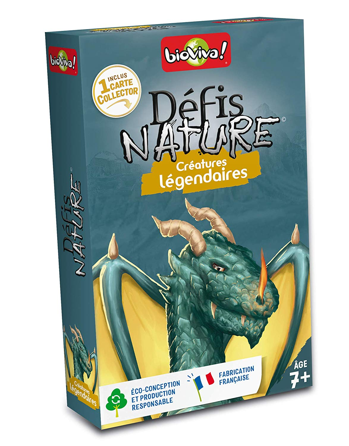 Bioviva 282628 Nature Challenges Animal-Legendary Creatures Card Game, Multi-Color