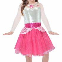 Amscan Barbie Costume for Girls–Dress Rock & Royals–Model N. BA105 Barbie 8-10 anni pink