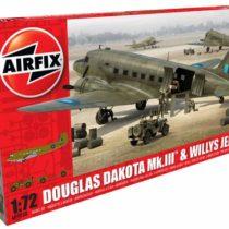 Airfix 1:72 Scale Douglas Dakota with Willy's Jeep Model Kit