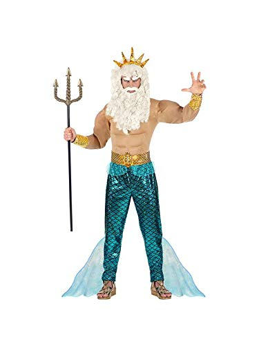 WIDMANN Poseidon 08752 Adults' Costume Multi-Coloured