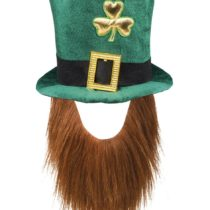 'Boland 44907 Leprechaun' Green Leprechaun Hat with Beard, One Size