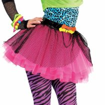 80s Party Girls Fancy Dress Celebrity 1980s Singer Kids Childs Costume Outfit