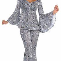 1970s Dancing Queen Ladies Fancy Dress 70s Groovy Disco Fever Womens Costume New