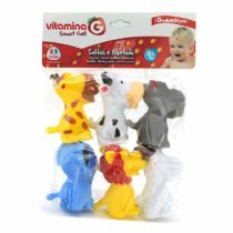 GLOBO 05214 Vitamina G 6 Pieces Gommolosi Animal, Multi-Color