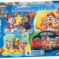 Ravensburger Paw Patrol 4 Shaped Jigsaw Puzzles (4,6,8,10pc)