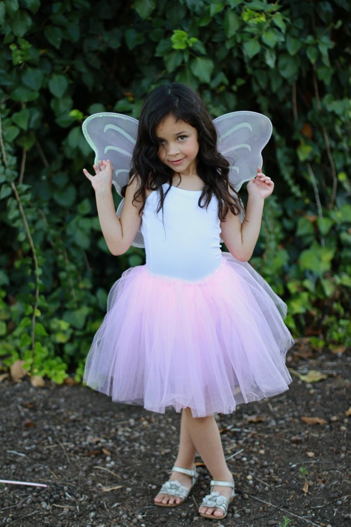 6 Pink Fairy Butterfly Wings Costume Dress Up Party Favor Packages for Girls Toddlers and Kids