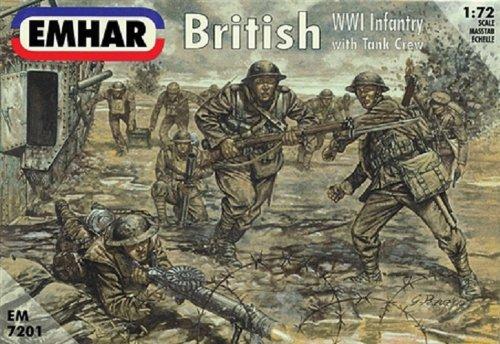 """'Emhar EM7201Figure–1/72WWI UK Infante Rieund Panzer Crew """""""