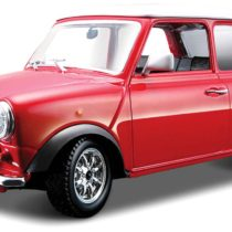 1969 Mini Cooper Red Diecast Model With White Roof 1/32 Scale From Bburago