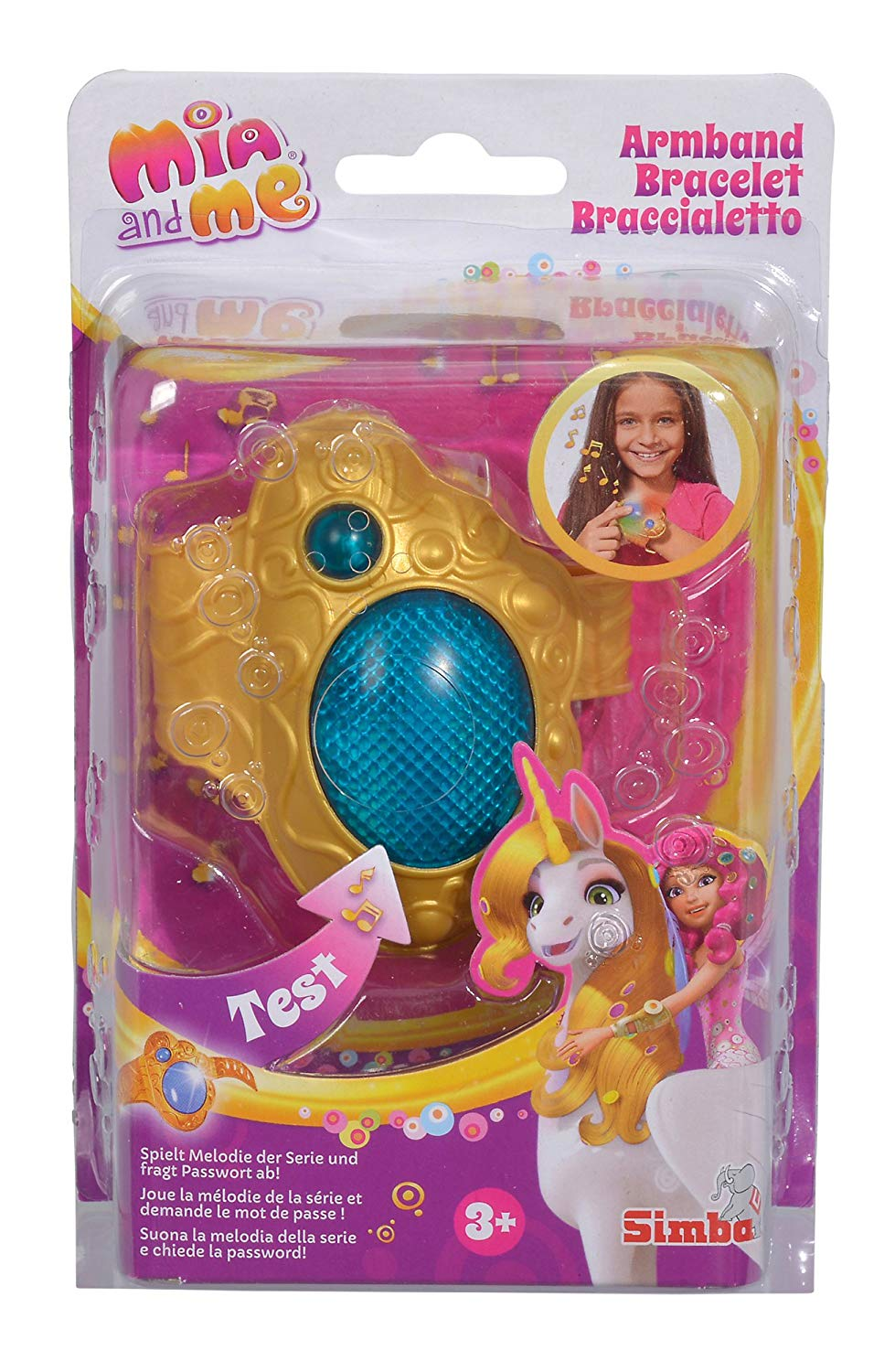 Simba 109480101– Mia and Me Bracelet with Light and Sound (German Version)