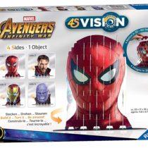 Ravensburger 4S Vision Marvel Avengers Infinity War Cats Slot Fit 3D Puzzle [Spider-Man, Dr Strange, Iron Man & Thanos]