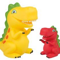 Idena 40316–Dinosaur, Set of 2, Yellow/Red