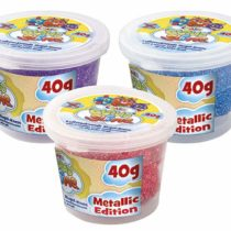 CRAZE 16794Cloud Slime Metallic 3Pots–Assorted Colours
