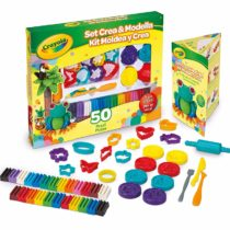 Crayola 57-0321 (-) Modeling Deluxe Kit Art Tools 50 Pieces Soft, Pliable Clay Won&amprsquot Dry Out