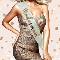 Alandra Sashes RGS-MAID Bridesmaid Cream & Rose Gold Metallic Hen Night Sash, One Size