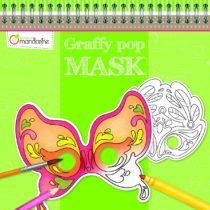 Avenue Mandarine Graffy Venetian Pop Mask Colouring Pack (Black/White)